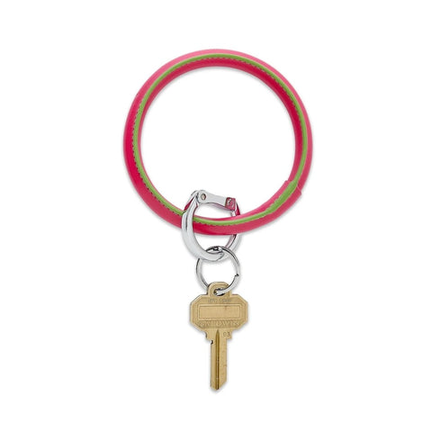 O-Venture - Leather Big O Key Ring - Tickled Pink