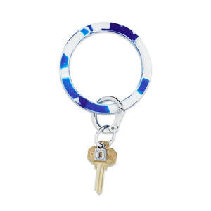 O-Venture - Silicone Big O Key Ring - Blue Me Away Marble