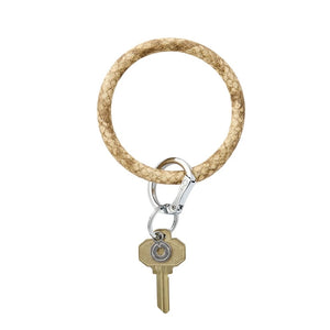 O-Venture - Leather Big O Key Ring - On The Beach Snakeskin