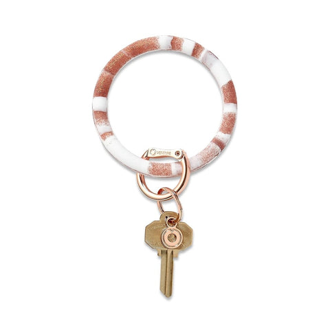 O-Venture - Silicone Big O Key Ring - Rose Gold Marble