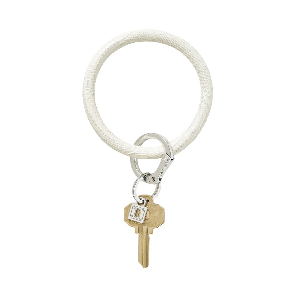 O-Venture - Leather Big O Key Ring - Fifty Shades Lizard