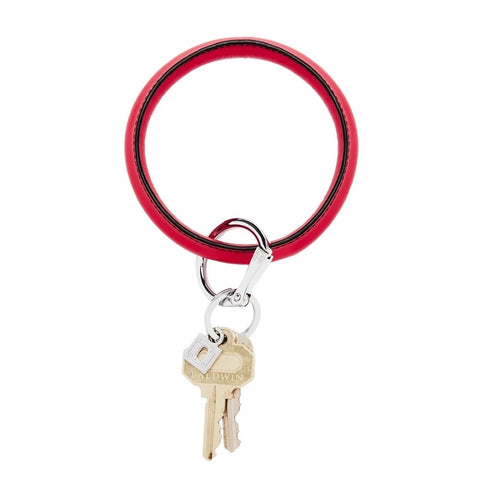 O-Venture - Leather Big O Key Ring - Black Cherry