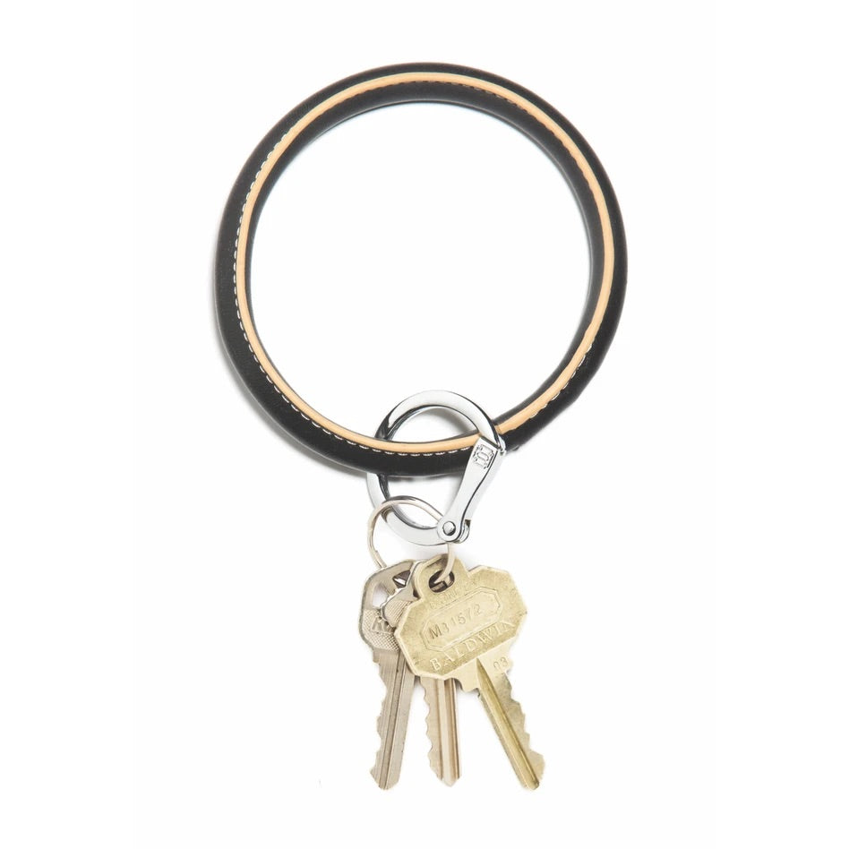 O-Venture - Leather Big O Key Ring - Back In Black