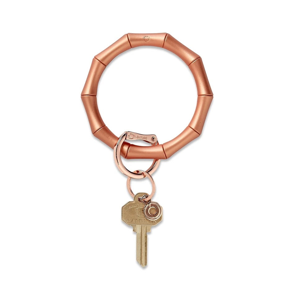 O-Venture - Silicone Big O Key Ring - Rose Gold Bamboo