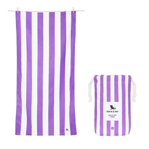 Dock & Bay Quick Dry Cabana Towel - Brighton Purple - Spinout