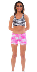 Adult Houndstooth Print Sport Bra