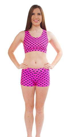 Adult Polka Dot Bootie Short