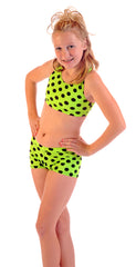 Youth Polka Dot Sport Bra