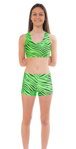 Youth Zebra Print Bootie Short