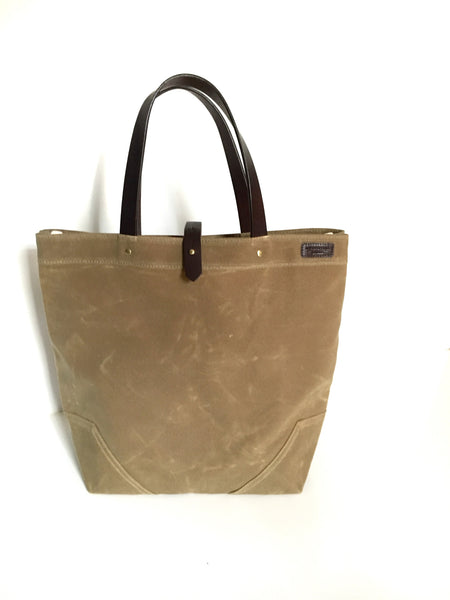 Scout - Waxed Cotton Tote - Sage