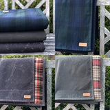 Blanket - Waxed Canvas and wool - Black Watch Plaid