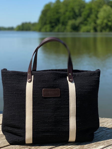 Hatteras - ECO Friendly Woven Cotton Tote - Onyx