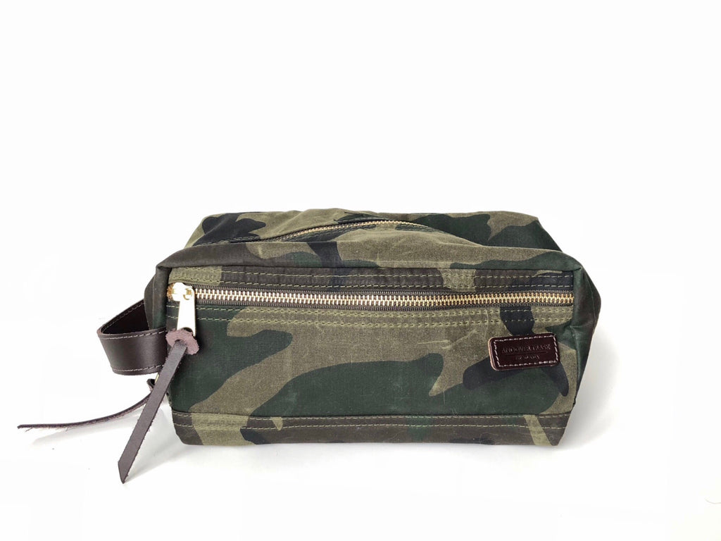Waxed Cotton Dopp Kit - Camo