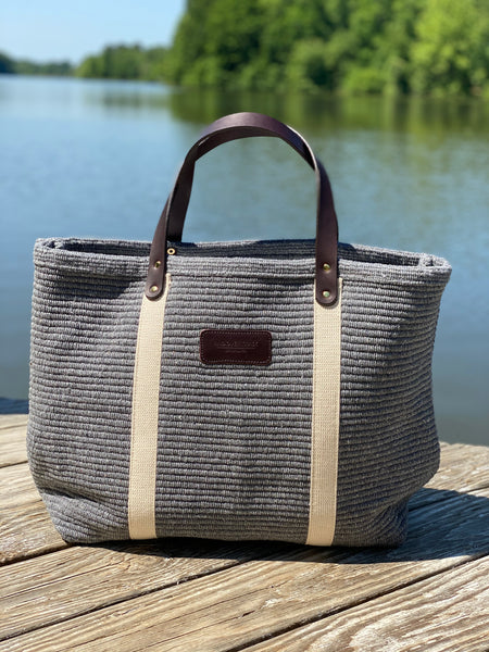 Hatteras - ECO Friendly Woven Cotton Tote - Skipping Stones