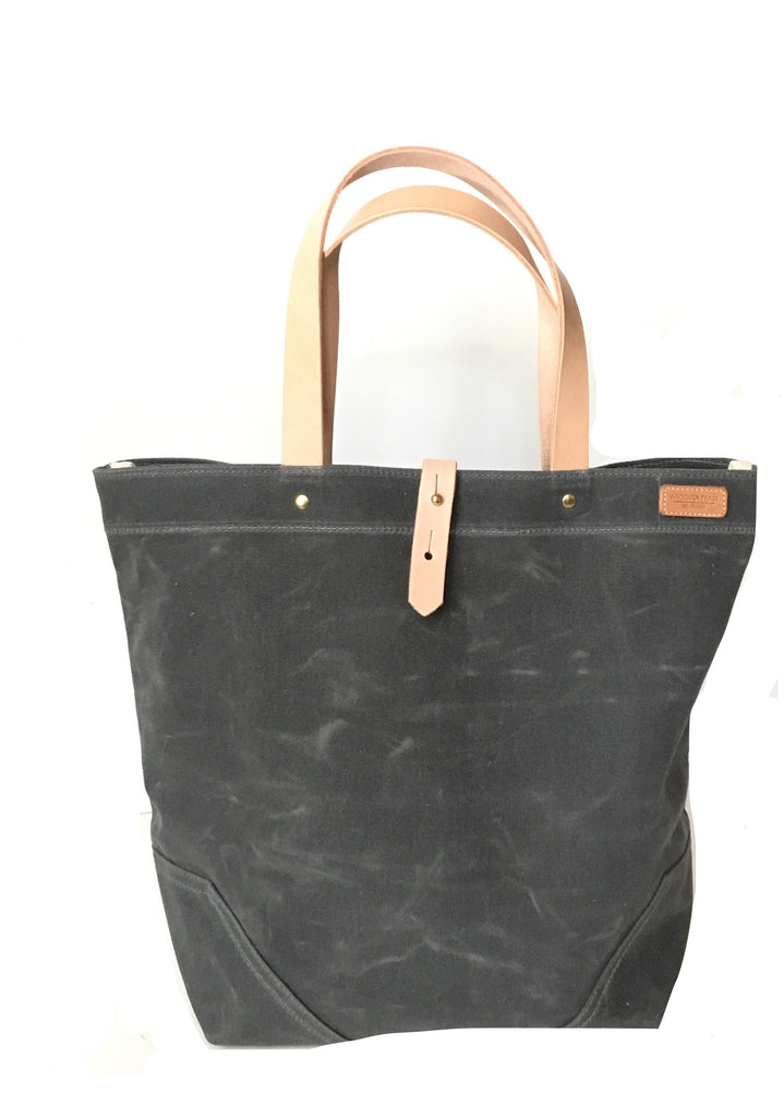 Scout - Waxed Cotton Tote - Gray