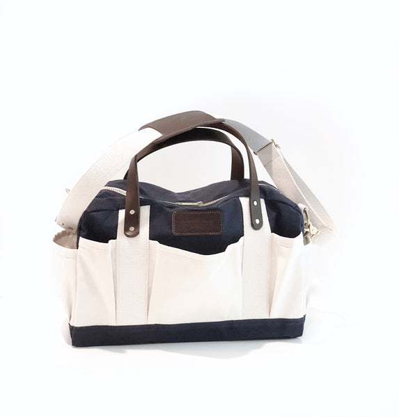 Harper - Waxed Canvas Tool Tote - Navy