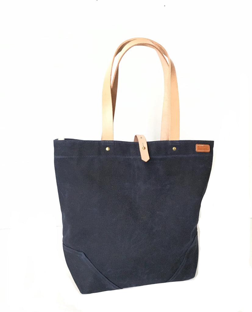 Scout - Waxed Cotton Tote - Navy