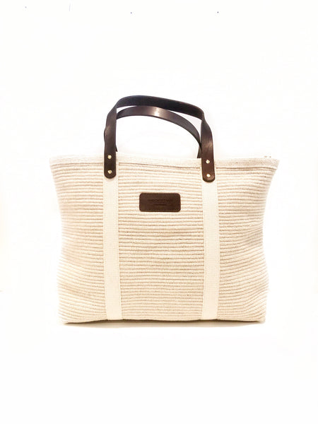 Hatteras - ECO Friendly Woven Cotton Tote - All Naturale