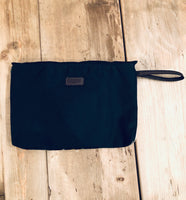 Clutch - Waxed cotton and wool - Black