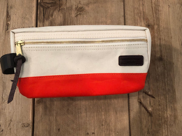 Canvas Dopp Kit - Natural/Orange