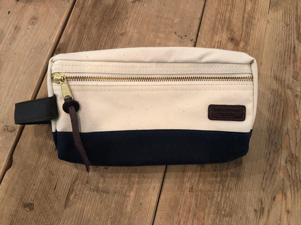 Canvas Dopp Kit - Natural/Navy