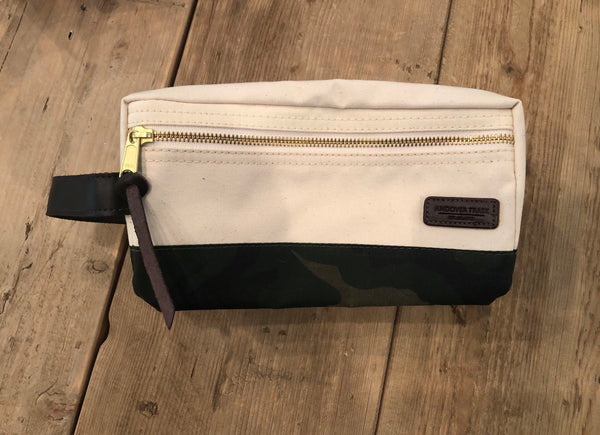 Canvas Dopp Kit - Natural/Camo