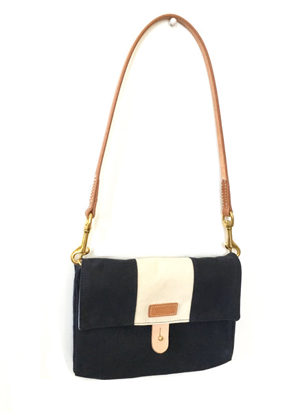 ATM - Andover Trask Mini - waxed Navy with natural stripe
