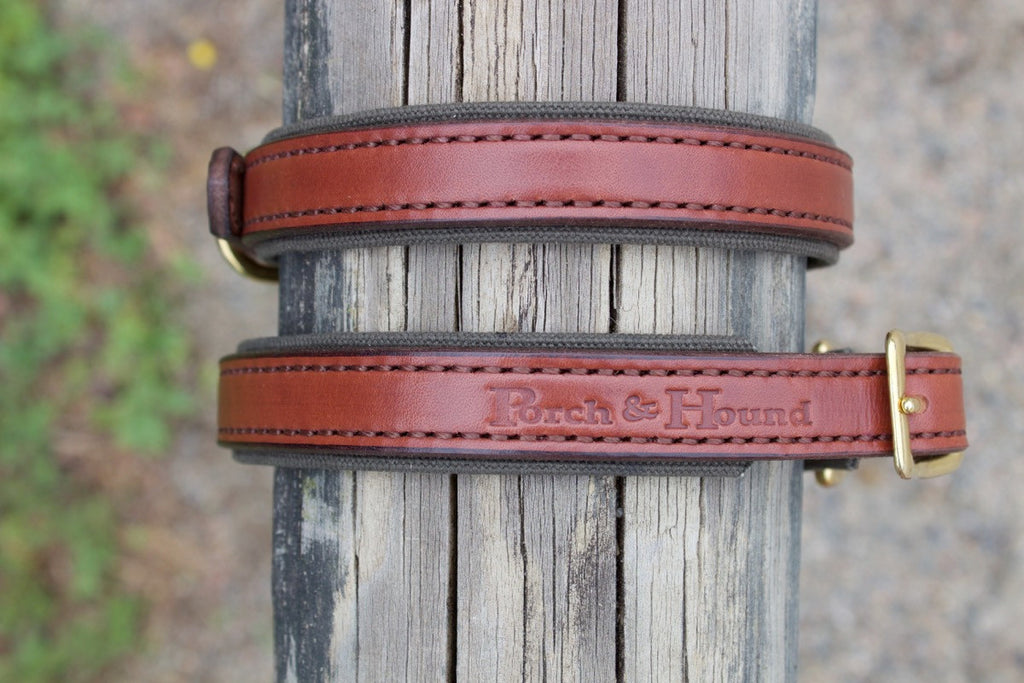 Dog collar - Oak Bark/Pine