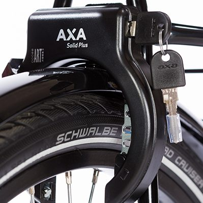 AXA Solid Plus Rear Wheel Lock with Plug-in