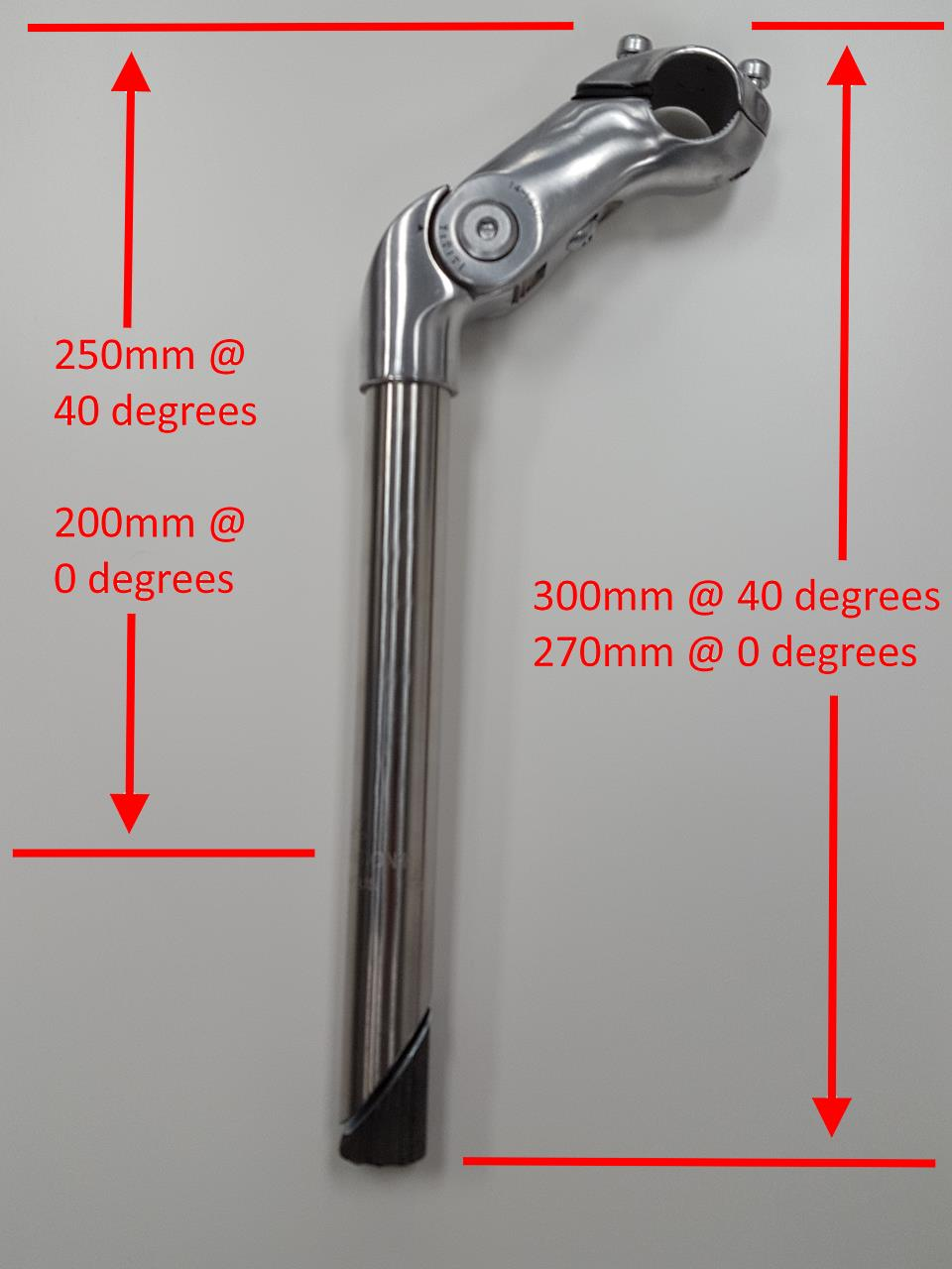 Dutch Stainless Steel Stem 250mm Adjustable