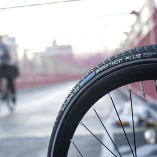 "Schwalbe Marathon Plus Tires ""Flat-less"""
