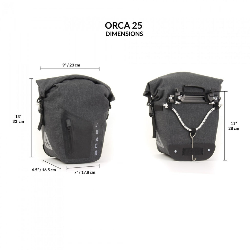 Arkel Orca 25 Waterproof Bike Panniers (Pair)