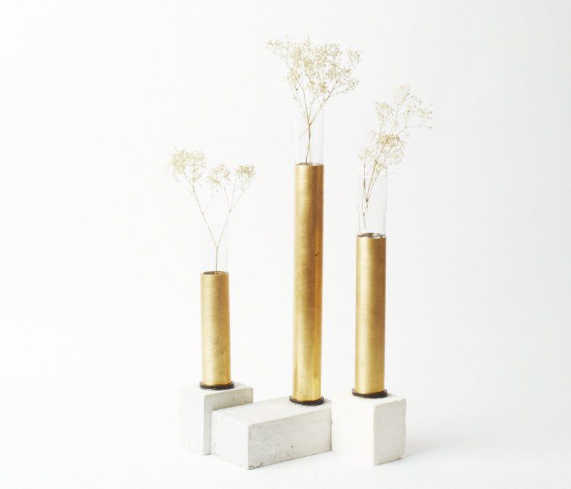 Brass Vases - Set of 3