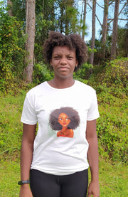 T-shirt featuring Long Fro Girl
