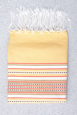 Tunisian Fouta Towel with Aztec pattern