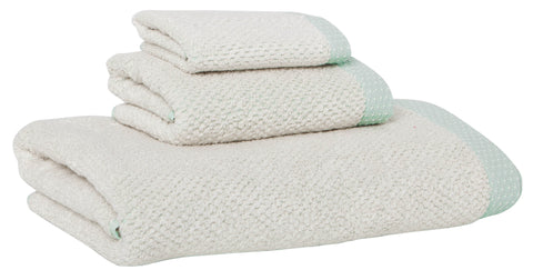 Linen Cotton Towels, set of 3, Mint