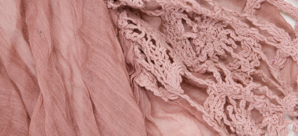 BLUSH-CROCHET LIGHT WEIGHT COTTON VOILE SCARF