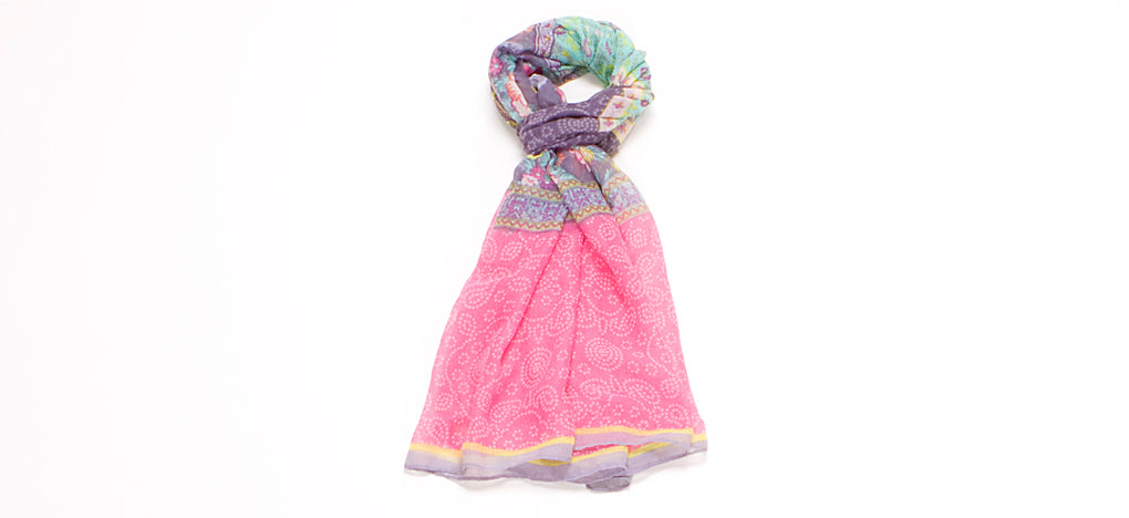 LIGHT WEIGHT COTTON VOILE SCARF