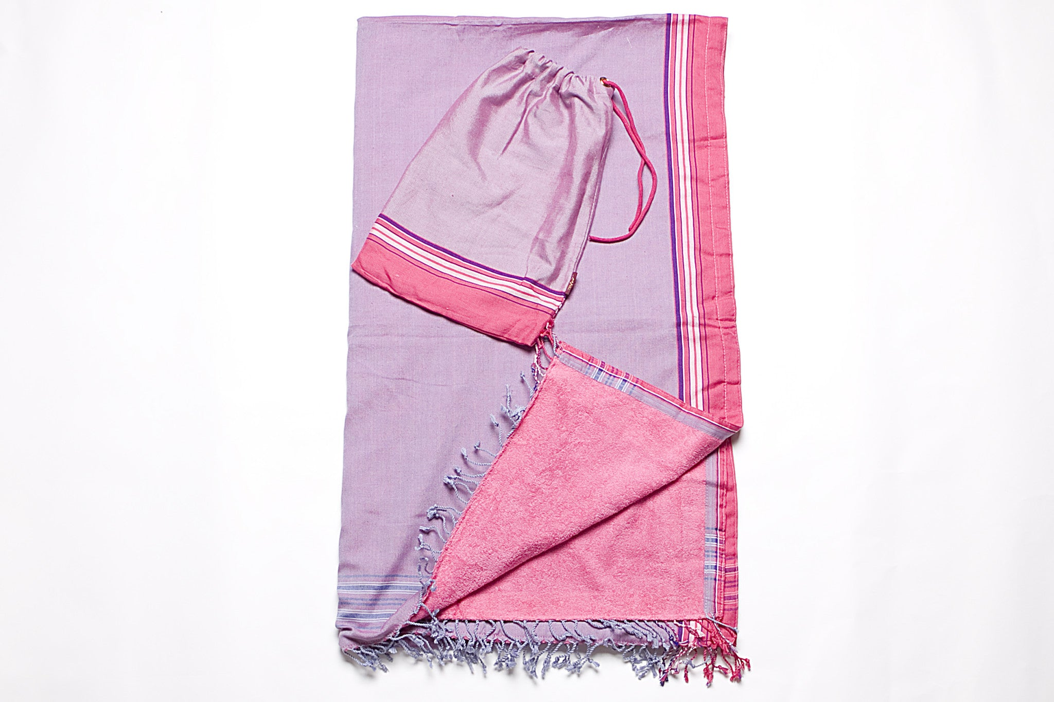 Fuchsia/Lavender Beach Towel - 2 piece set