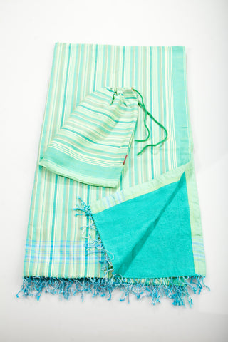 Mint Striped Beach Towel - 2 piece set