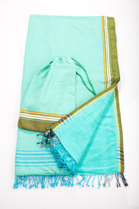 Mint/Green Beach Towel - 2 piece set