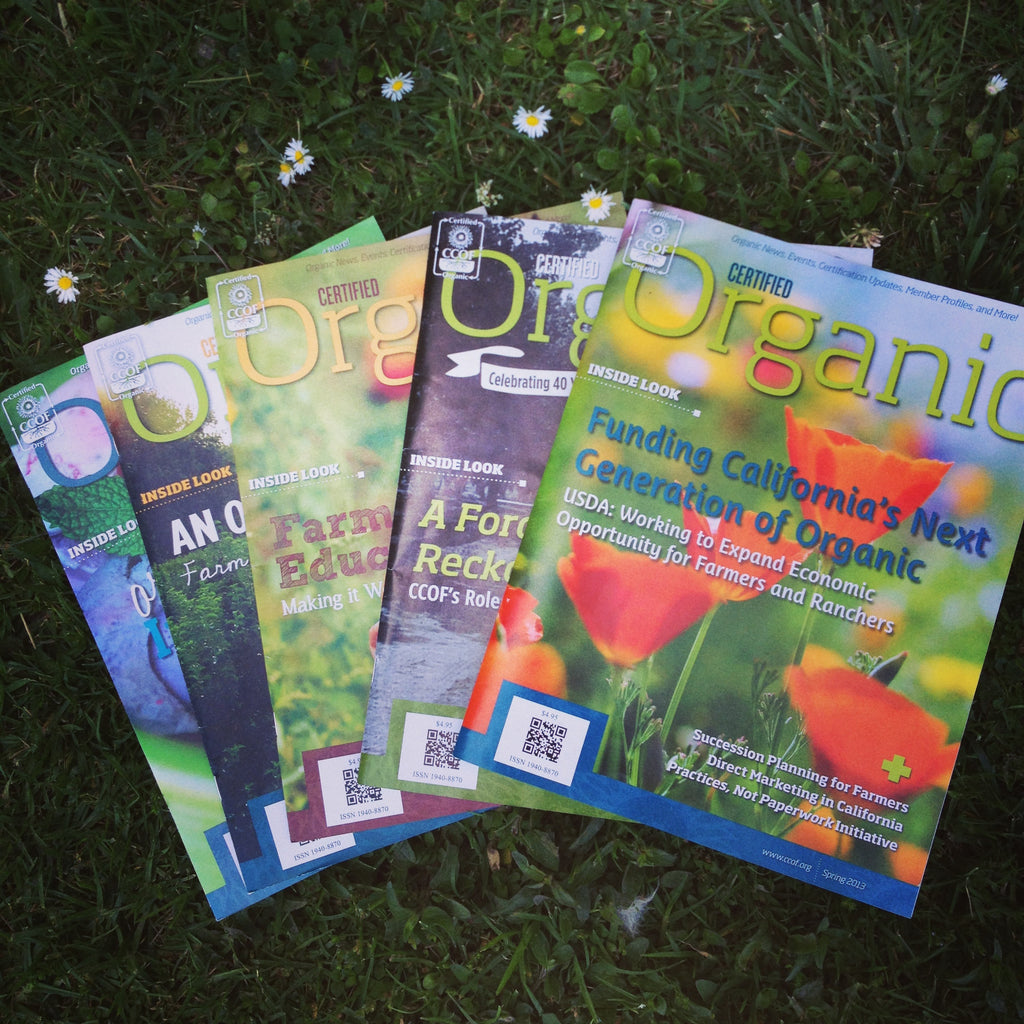 Recent editions of Certified Organic Magazine