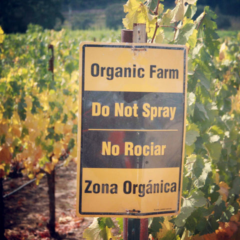 """Organic Farm - Do Not Spray"" Bilingual Sign"