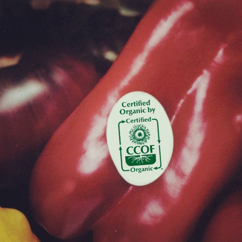 "Oval ""Certified Organic by CCOF"" Stickers"