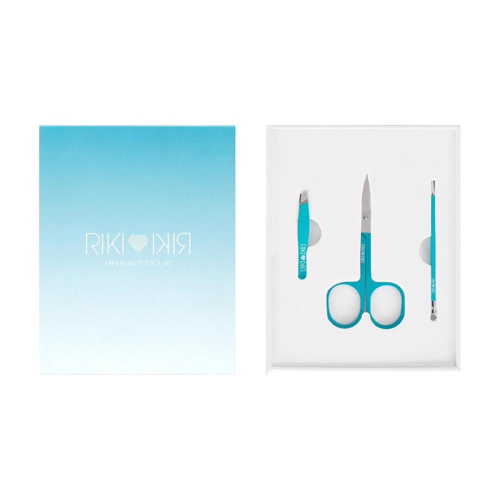 Glamcor Riki Mini Beauty Tool Set (Tweezers, Extractor & Brow Scissors)