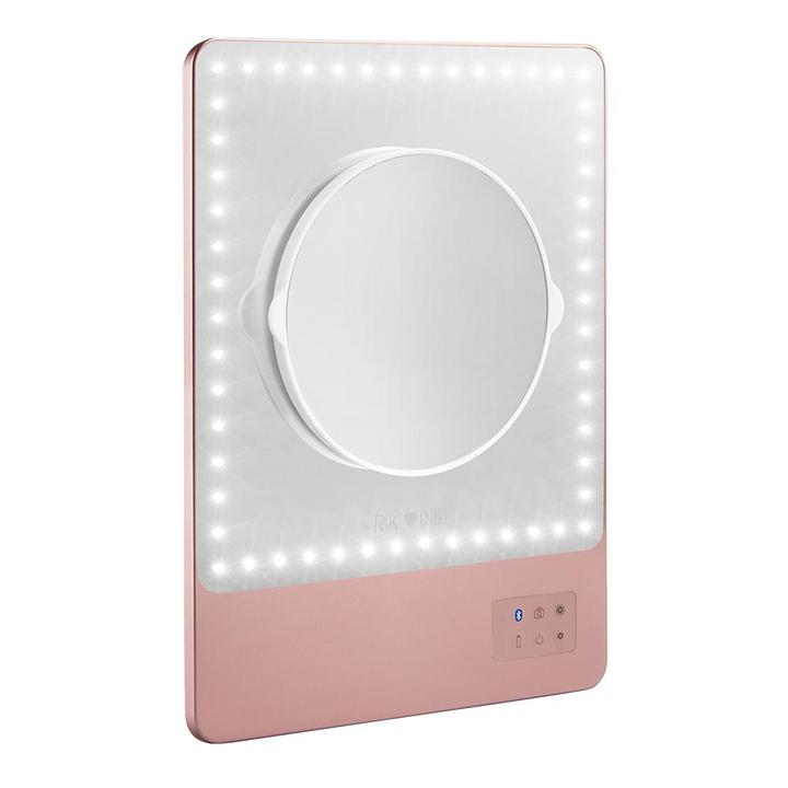 Glamcor Riki Skinny Vanity Makeup Mirror - Rose Gold - Personalised