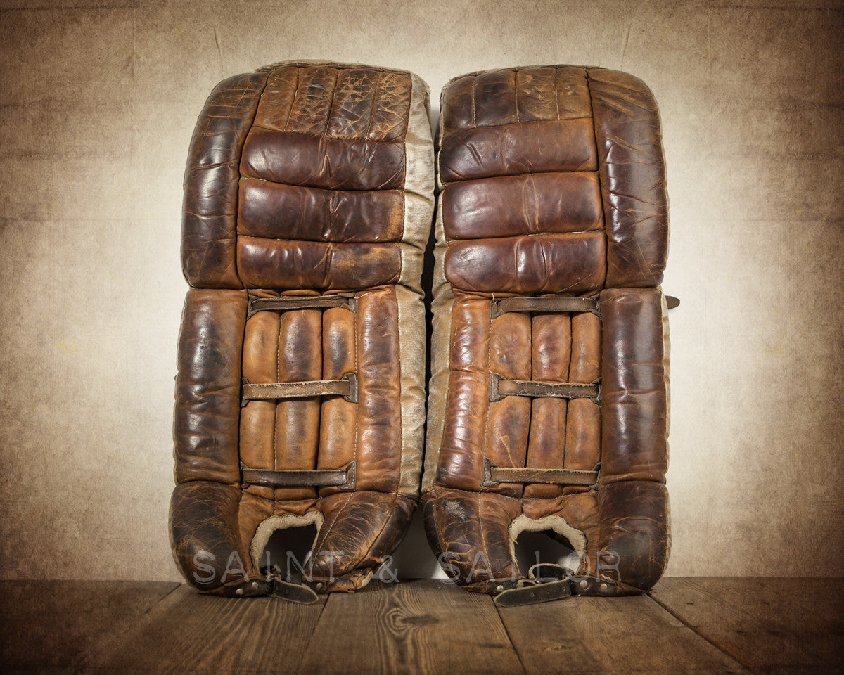 Vintage Hockey Goalie Leg Pads Saint Sailor Studios