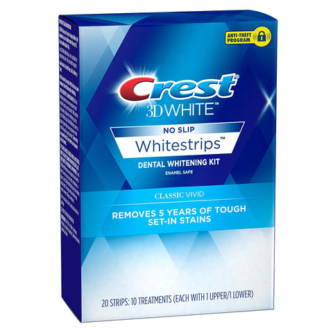 Crest 3D Whitestrips Vivid Teeth Whitening 20 Strips - Crest Whitestrips United Kingdom