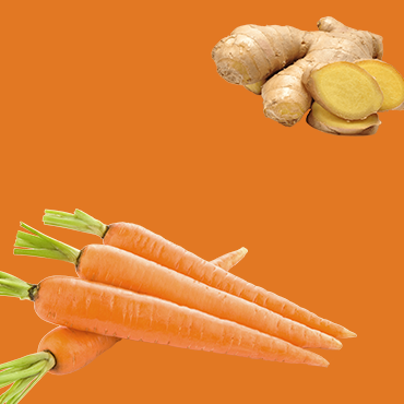 Carrot and Ginger 100ml- Pack of 6 Shots