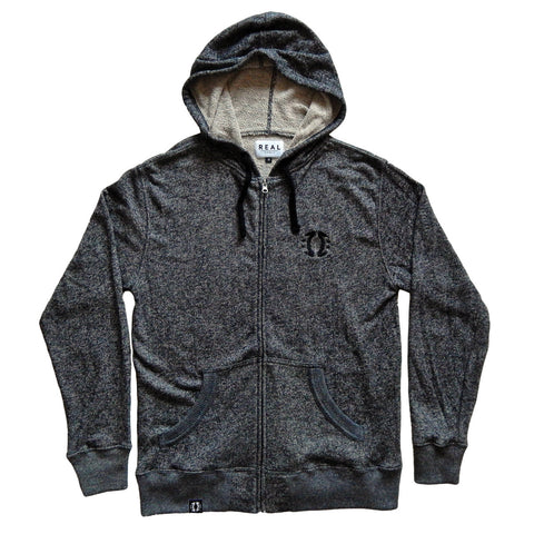 Black Heather French Terry Hoodie